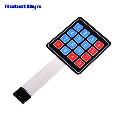 Клавіатура матрична мембранна 4х4 Robotdyn