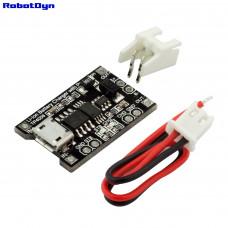 Модуль для зарядки Li-Ion акумуляторів із захистом  TP4056 MicroUSB RobotDyn