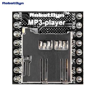 Аудіо модуль mp3 програвач c MicroSD зчитувачем WTV020SD